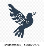dove icon as the concept of the ... | Shutterstock .eps vector #530899978