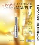 concealer stick ads. vector... | Shutterstock .eps vector #530900356
