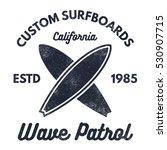 vintage surfing tee design.... | Shutterstock .eps vector #530907715