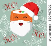 christmas banner with sushi... | Shutterstock .eps vector #530907802