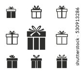 gift box vector icons set.... | Shutterstock .eps vector #530913286