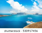 cruise ship in the sea.... | Shutterstock . vector #530917456