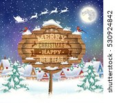 meryy christmas and happy new... | Shutterstock . vector #530924842