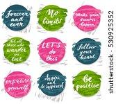 set of hand drawn lettering... | Shutterstock .eps vector #530925352