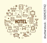 hotel minimal thin line icons... | Shutterstock .eps vector #530925742