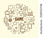 game minimal thin line icons... | Shutterstock .eps vector #530925748