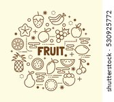 fruit minimal thin line icons... | Shutterstock .eps vector #530925772