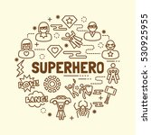 superhero minimal thin line... | Shutterstock .eps vector #530925955