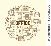 office minimal thin line icons... | Shutterstock .eps vector #530926102