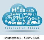 internet of things and cloud... | Shutterstock .eps vector #530927236