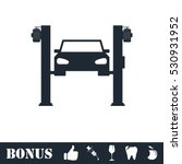 car lifting icon flat. vector... | Shutterstock .eps vector #530931952