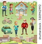 family. father  mother ...   Shutterstock .eps vector #530942992