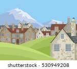 image of small english villages ... | Shutterstock .eps vector #530949208
