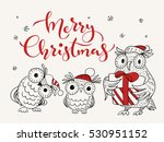 vector holiday christmas... | Shutterstock .eps vector #530951152