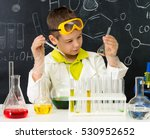 schoolboy  gown and gloves... | Shutterstock . vector #530952652