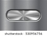 oval metal button on perforated ... | Shutterstock .eps vector #530956756