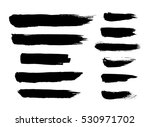 brush strokes. ink painting.... | Shutterstock .eps vector #530971702
