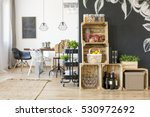Interior With Dining Table And...