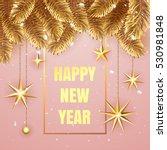 happy new year 2017 elegant... | Shutterstock .eps vector #530981848