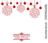 christmas congratulatory card... | Shutterstock . vector #530982688
