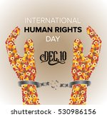 international human rights day... | Shutterstock .eps vector #530986156