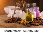 aromatherapy bottle with... | Shutterstock . vector #530987632