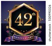 42 years golden anniversary... | Shutterstock .eps vector #530990326