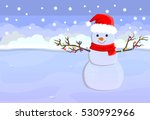 merry christmas and happy new... | Shutterstock .eps vector #530992966