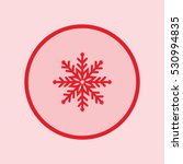 snowflake icon | Shutterstock .eps vector #530994835