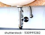 basin siphon or sink drain in a ... | Shutterstock . vector #530995282