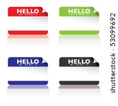 colourful paper tags with hello ... | Shutterstock . vector #53099692