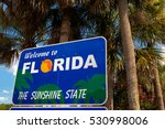 "Small photo of ""Welcome to Florida"" sign (The Sunshine State)"