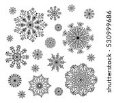 christmas snowflakes collection ... | Shutterstock .eps vector #530999686