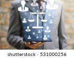 judicial security scales... | Shutterstock . vector #531000256