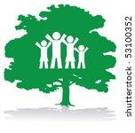 green family tree | Shutterstock .eps vector #53100352