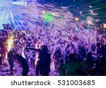 young happy people are dancing...   Shutterstock . vector #531003685