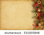 beige paper background with... | Shutterstock . vector #531005848