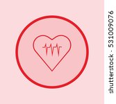 cardiology  icon | Shutterstock .eps vector #531009076