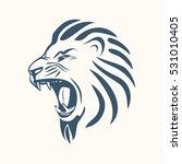 Stock vector lion head illustration vector 531010405