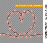 christmas lights isolated... | Shutterstock .eps vector #531015208