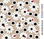 flower seamless pattern with a... | Shutterstock .eps vector #531017692