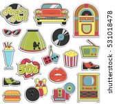 collection of vintage retro... | Shutterstock .eps vector #531018478