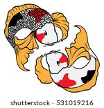 hand drawn colorful koi fish... | Shutterstock .eps vector #531019216