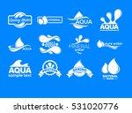 blue logos set. label for...