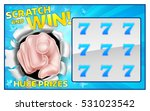 a lottery instant scratch and...   Shutterstock .eps vector #531023542