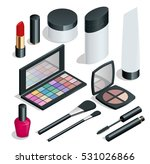 make up. hand drawn cosmetics... | Shutterstock . vector #531026866