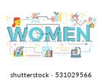 women word in business concept... | Shutterstock .eps vector #531029566