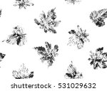 allover seamless autumn leaf... | Shutterstock . vector #531029632