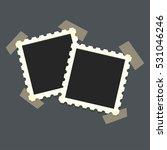 flat vector photo frame on... | Shutterstock .eps vector #531046246