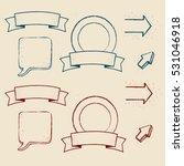 design elements set. hand drawn ... | Shutterstock .eps vector #531046918